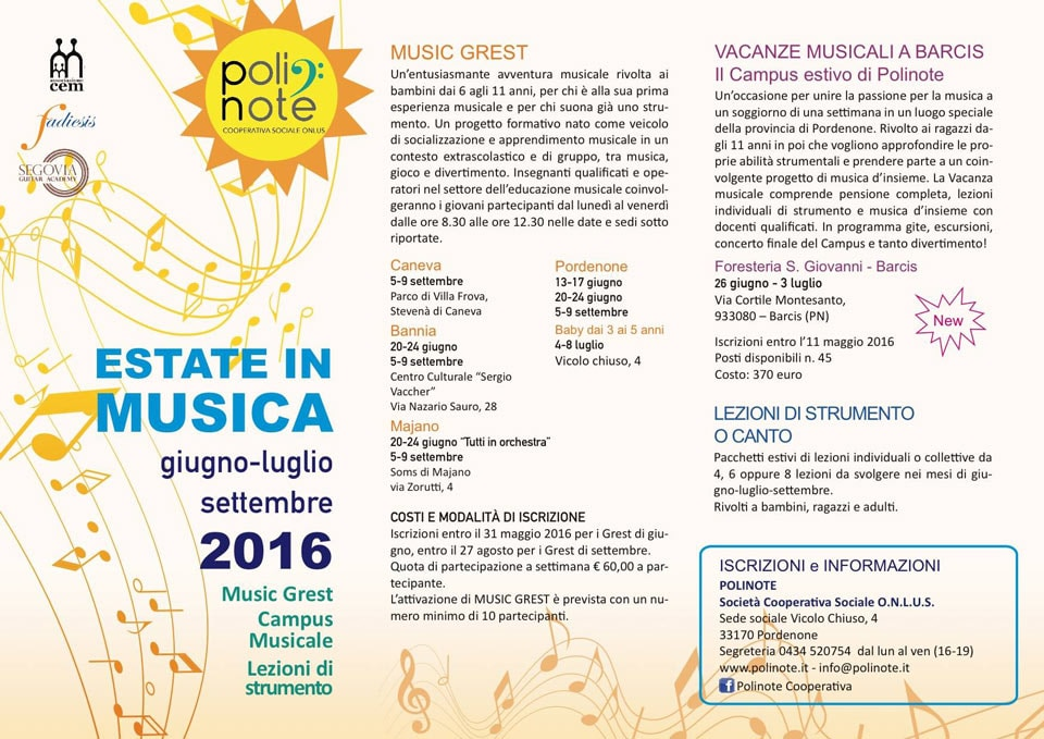 Estate in musica 2016