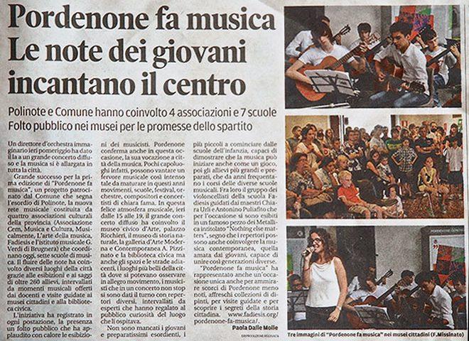 Articolo dal Messaggero Veneto
