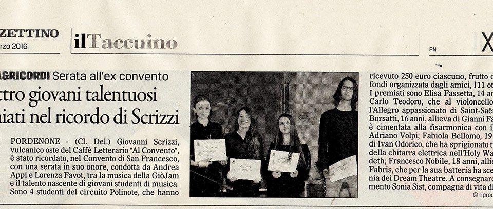 Il Gazzettino, 24 marzo 2016